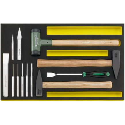 STAHLWILLE TCS 102–108/10957/10960 MF Ha mmer, chisels etc. in TCS inlay - 1
