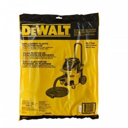 DeWALT Plastic Filter Bags for DWV920M (5pcs) - 1