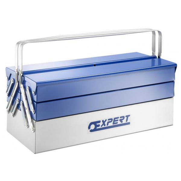 EXPERT Metal toolbox with 5 compartments 450 mm and 535 mm - 1