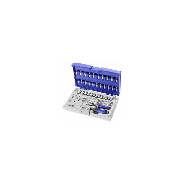 """EXPERT 1/4"""" socket and accessory set metric 42 pieces - 1"""