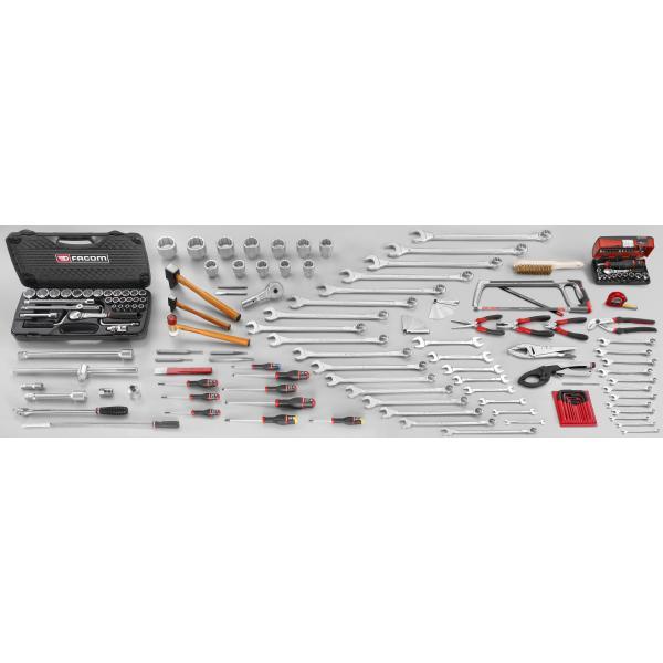 FACOM CM.V9 - 174 piece metric agricultural maintenance tool set - 1