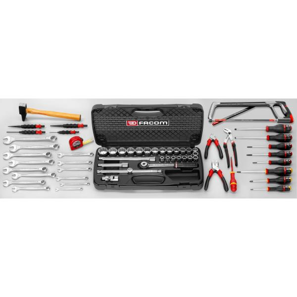 FACOM 2026.M100A - Set CM.100A with 66 cm plastic toolbox BP.P26 (60 pcs) - 1