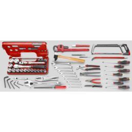 FACOM 57 piece metric farm machinery tool set - 1