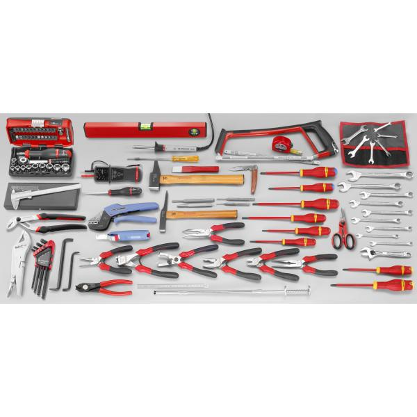 FACOM 2070.E18 - Set CM.E18 with 5 compartment toolbox BT.13A (116 pcs) - 1