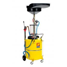 MECLUBE Air operated suction drainer for exhausted oil 120 l with pre chamber - 1