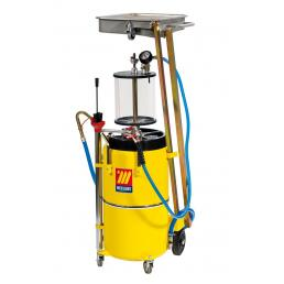 MECLUBE Air operated exhausted oil suction drainer with pantograph 90 l and pre chamber - 1