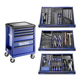 EXPERT X207 tool cart, 6 drawers, with 207 tools - 1