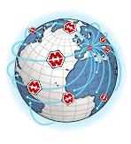 จัดส่งทั่วโลกโดยบริการจัดส่งพัสดุด่วน